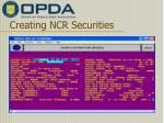 creating ncr securities