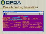 manually entering transactions