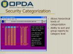 security categorization