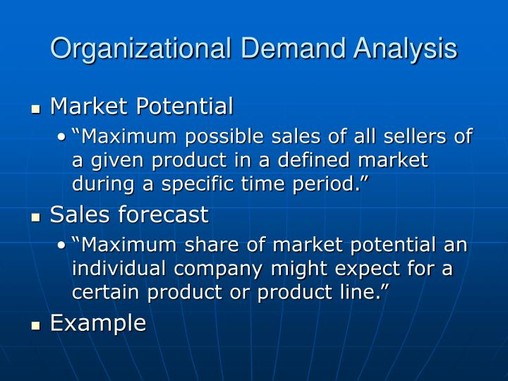 Organizational demand analysis1