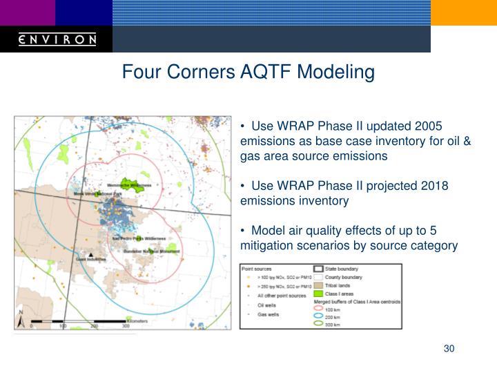 Four Corners AQTF Modeling