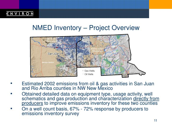 NMED Inventory – Project Overview