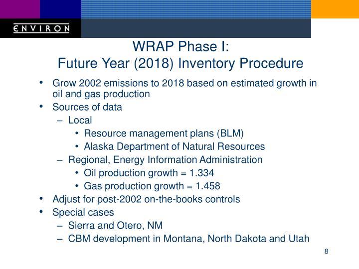 WRAP Phase I: