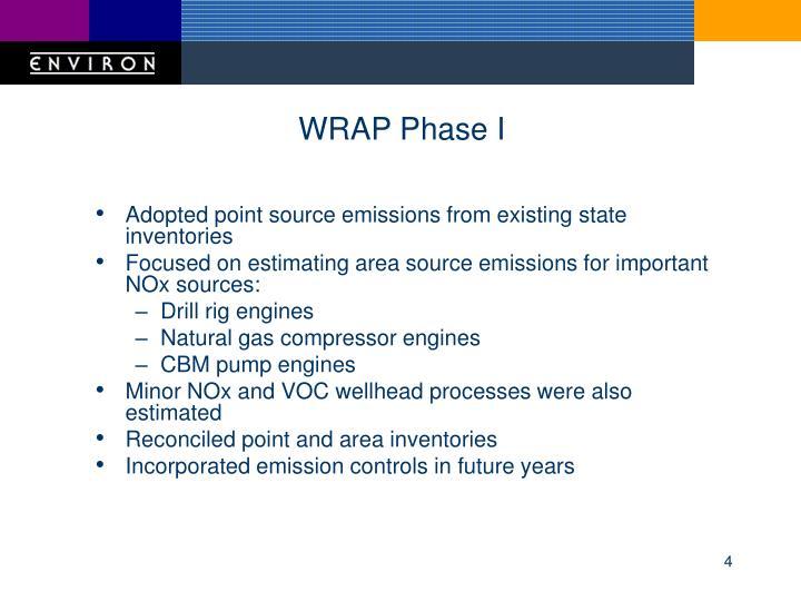 WRAP Phase I