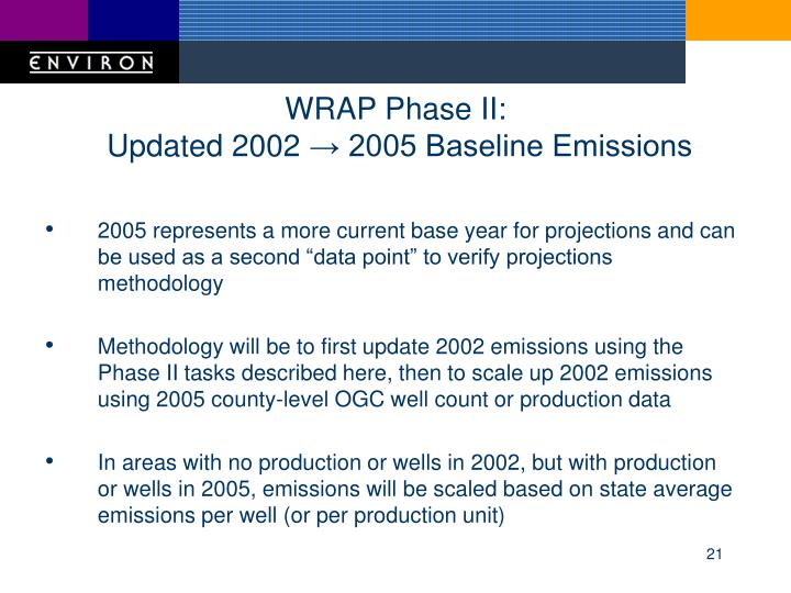 WRAP Phase II: