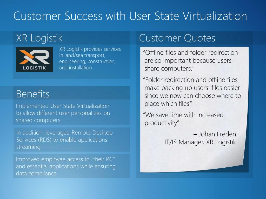 PPT - Optimizing Your Windows 7 Desktop Strategy with