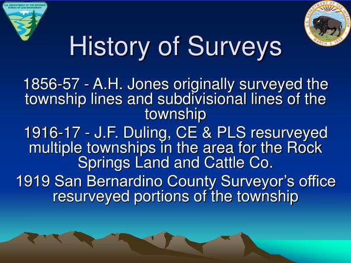 History of Surveys