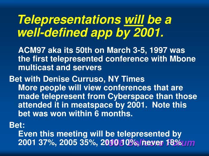 Telepresentations