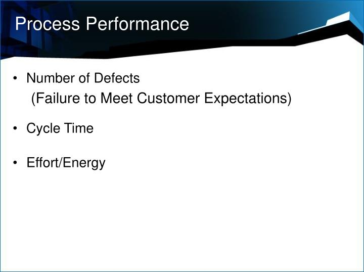 Process Performance