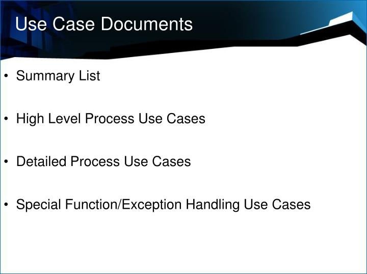 Use Case Documents