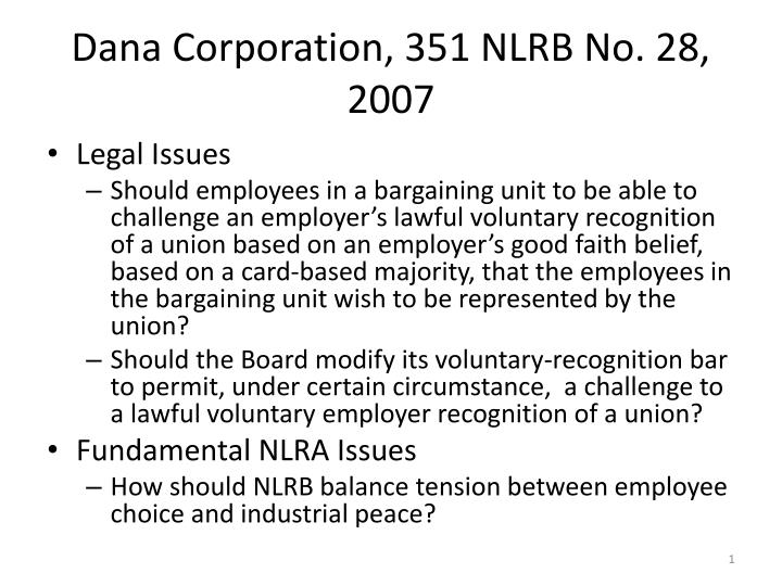dana corporation 351 nlrb no 28 2007 n.