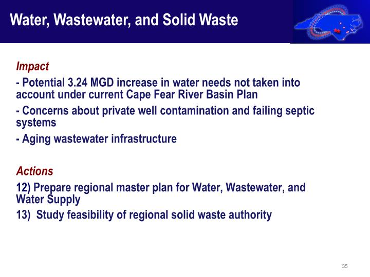 Water, Wastewater, and Solid Waste
