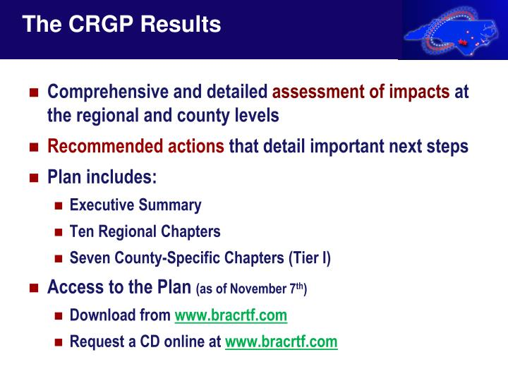 The CRGP Results