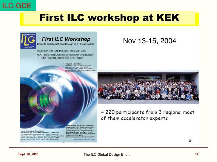 First ILC workshop at KEK