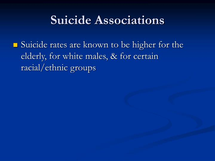 Suicide Associations