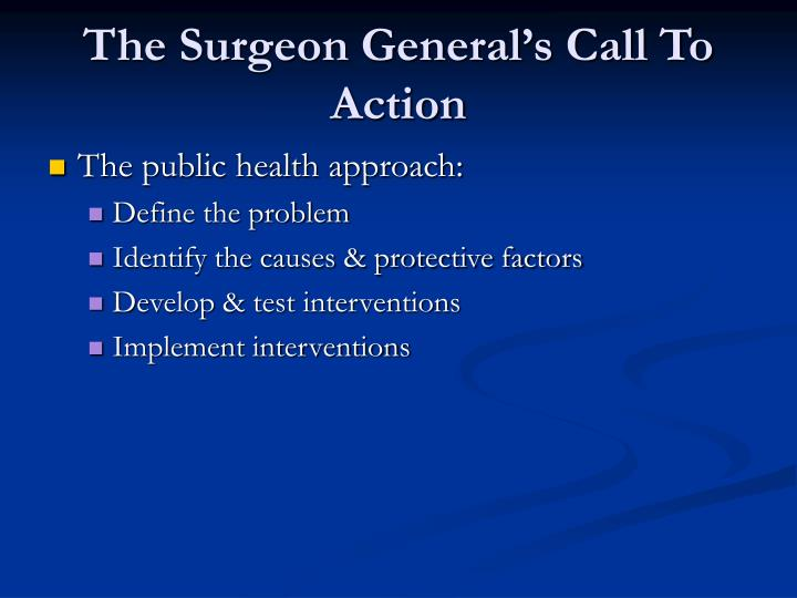 The Surgeon General's Call To Action