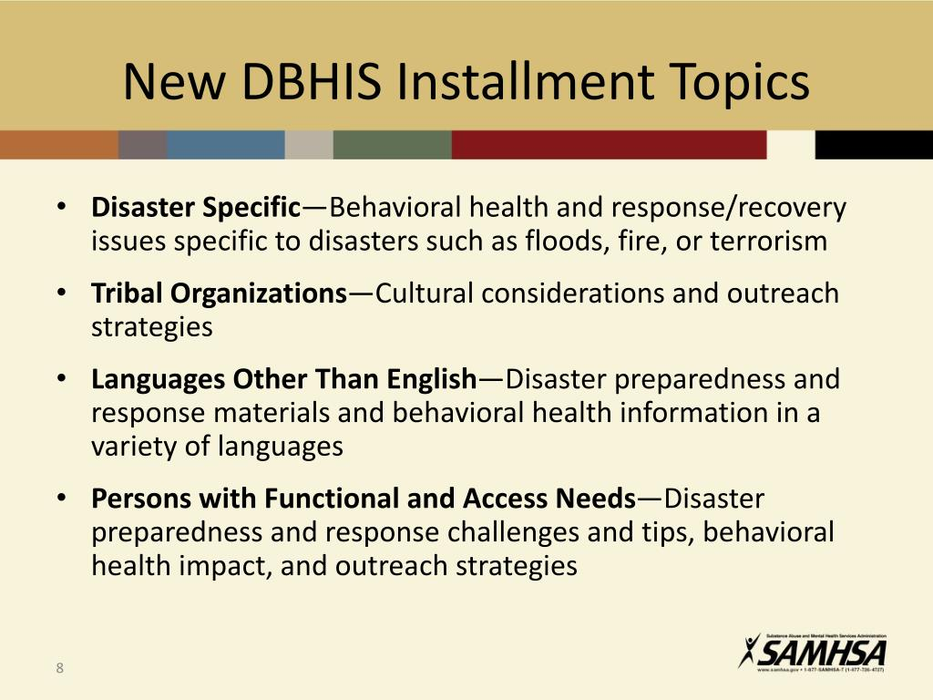 PPT - Disaster Behavioral Health Training and Technical