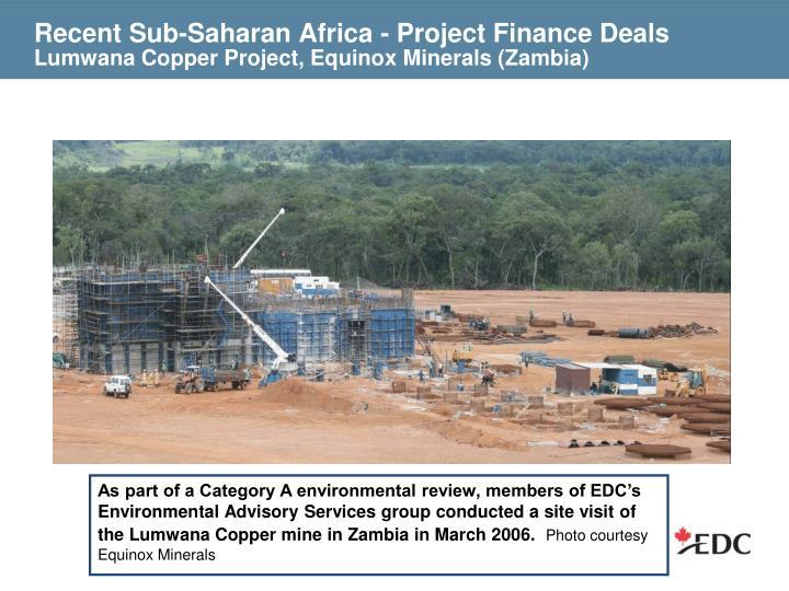 Recent Sub-Saharan Africa - Project Finance Deals