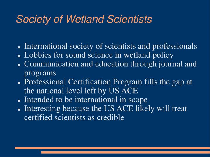 Society of Wetland Scientists