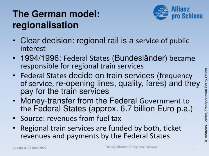 The German model: