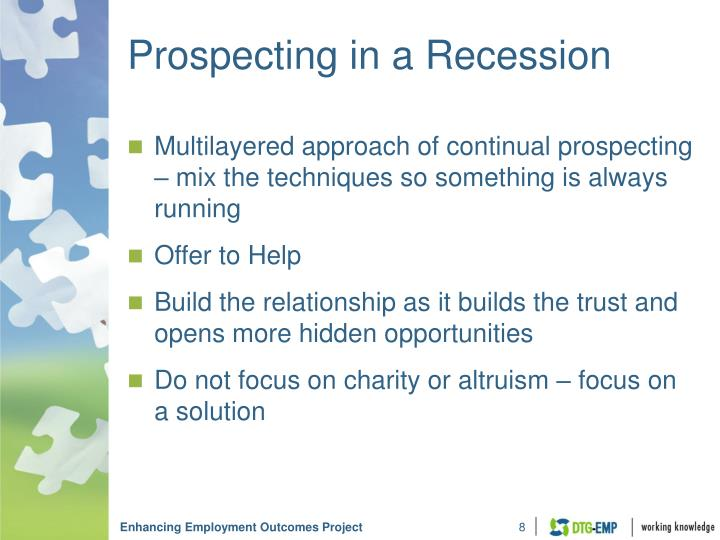 Prospecting in a Recession