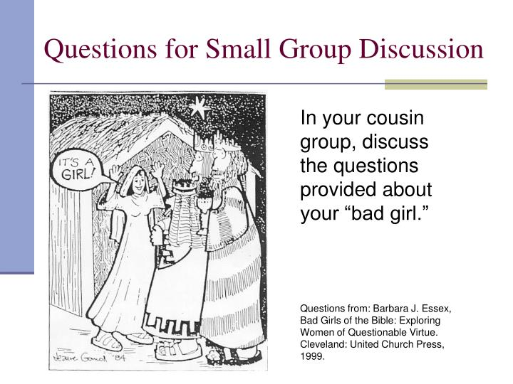 Questions for Small Group Discussion