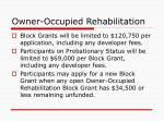 owner occupied rehabilitation