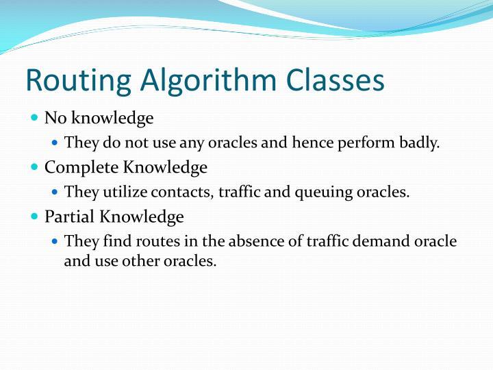 Routing Algorithm Classes