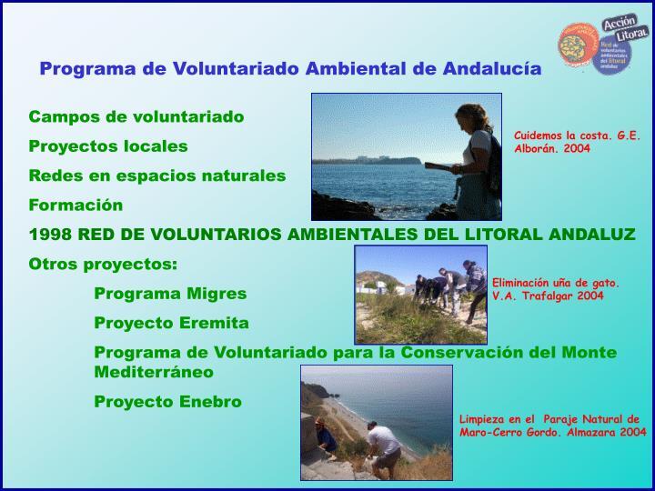 Programa de Voluntariado Ambiental de Andalucía