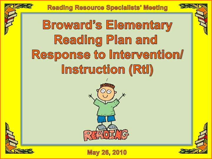Reading Resource Specialists' Meeting
