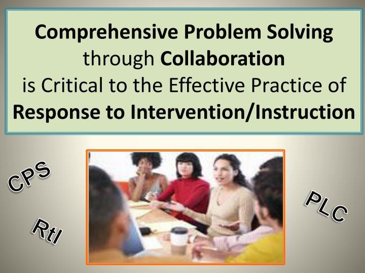 Comprehensive Problem Solving