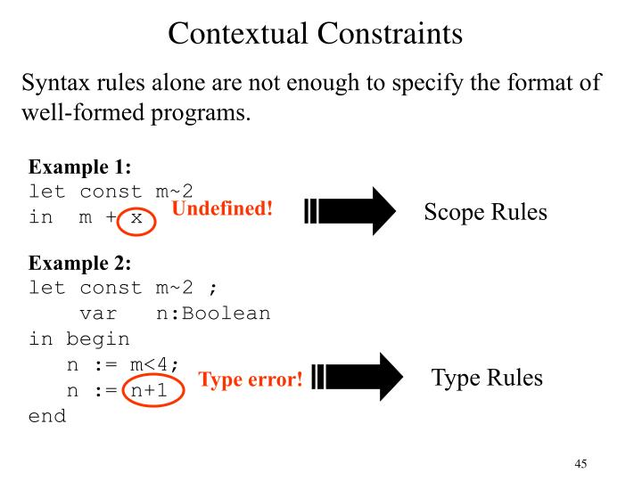 Contextual Constraints