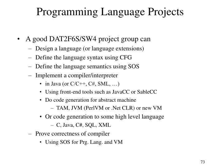 Programming Language Projects
