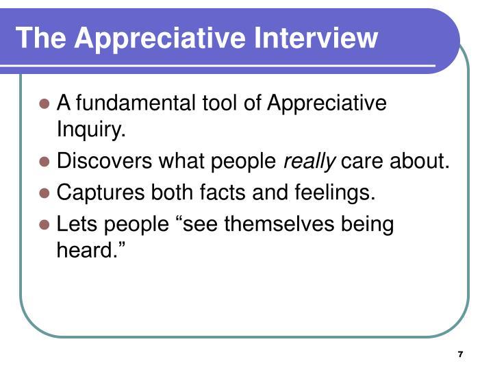 The Appreciative Interview