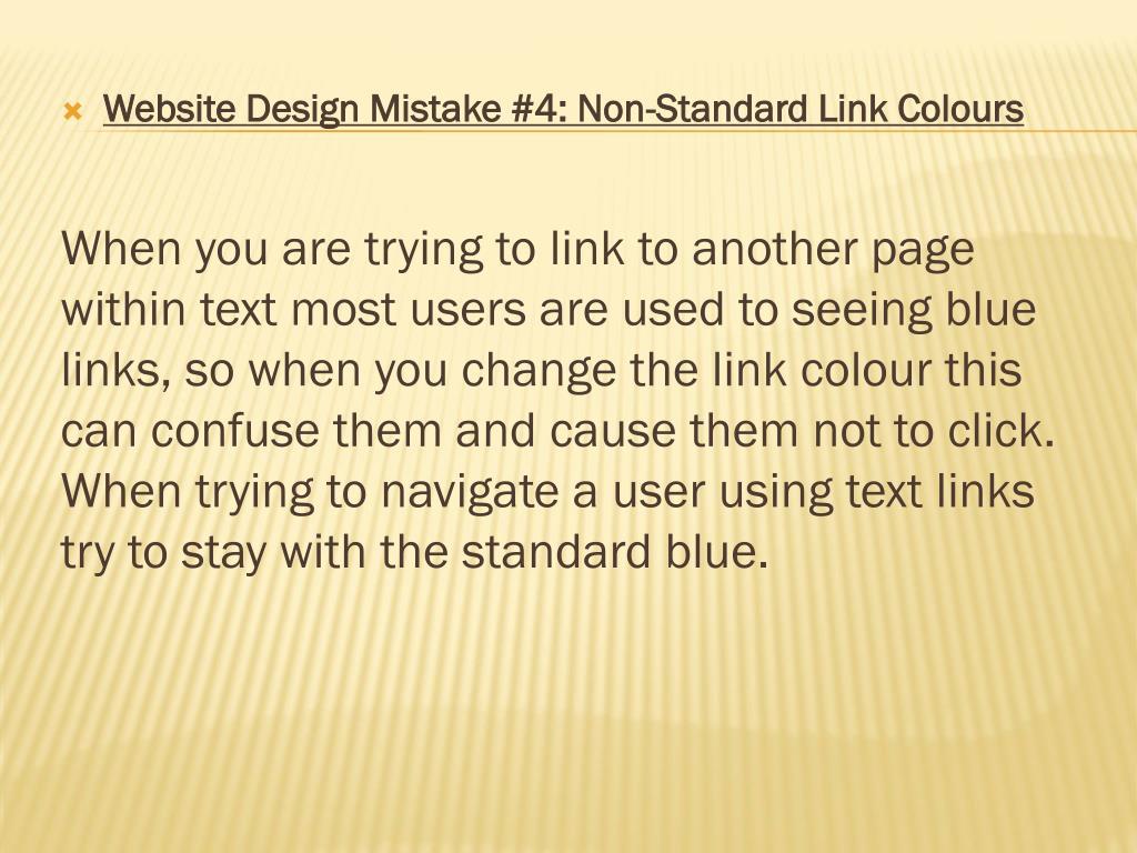 Website Design Mistake #4: Non-Standard Link