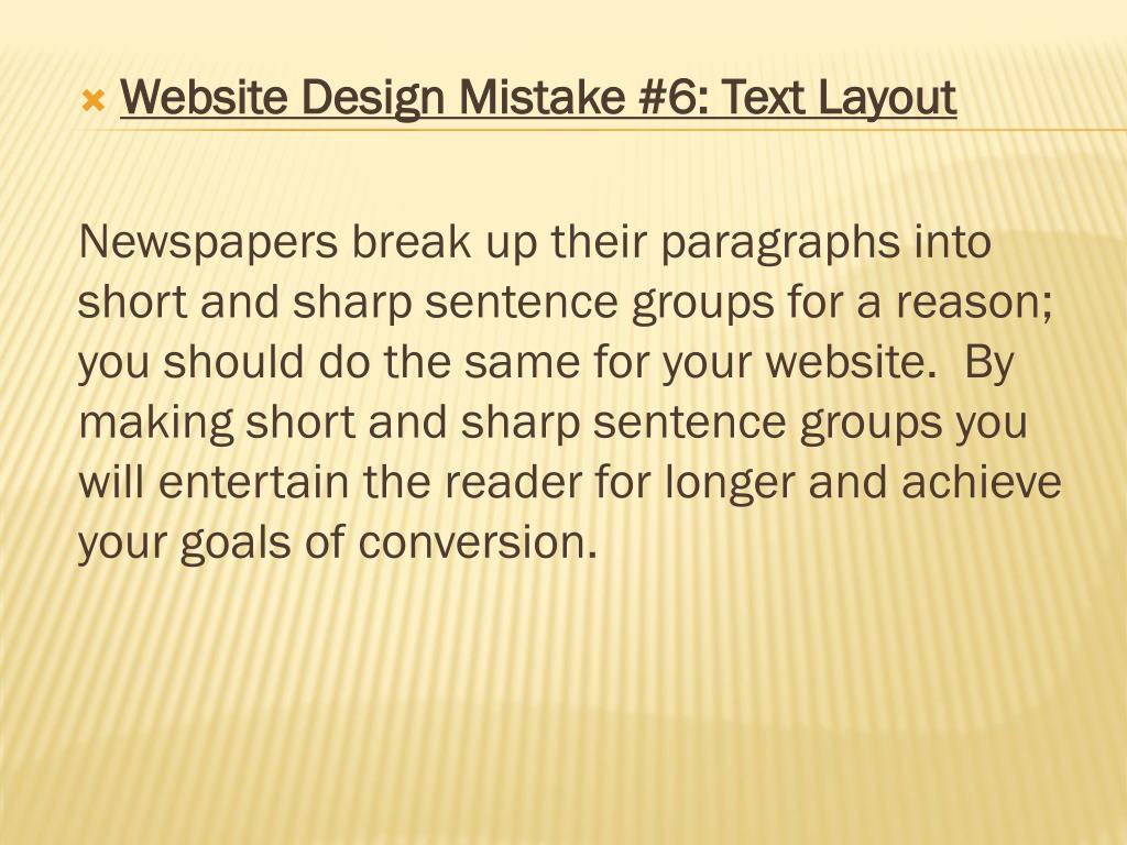 Website Design Mistake #6: Text Layout