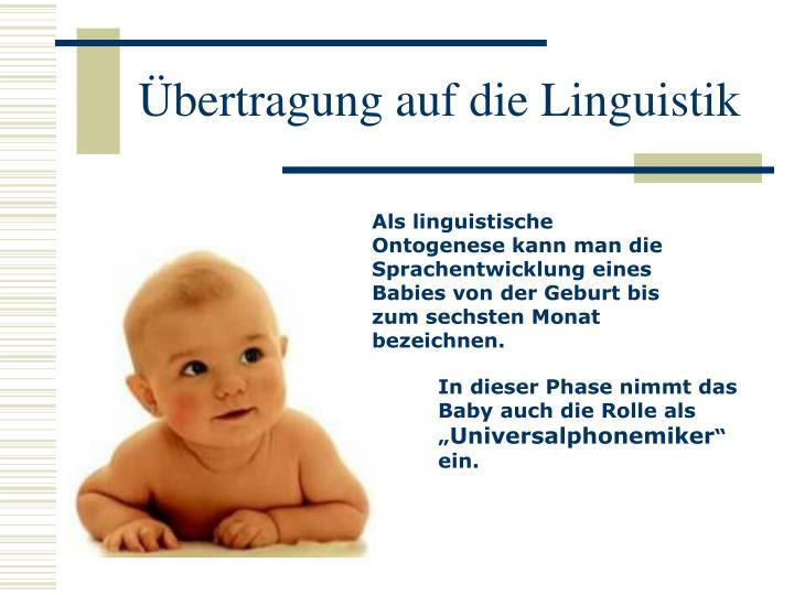 Übertragung auf die Linguistik