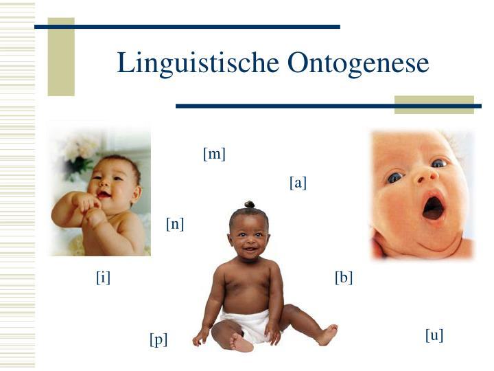 Linguistische Ontogenese