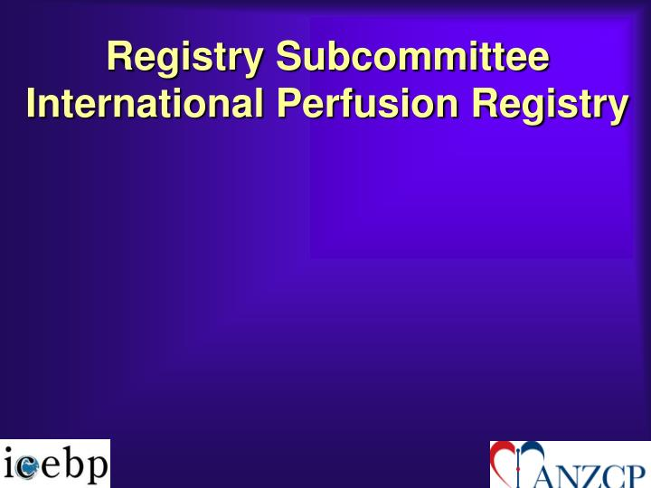 Registry Subcommittee