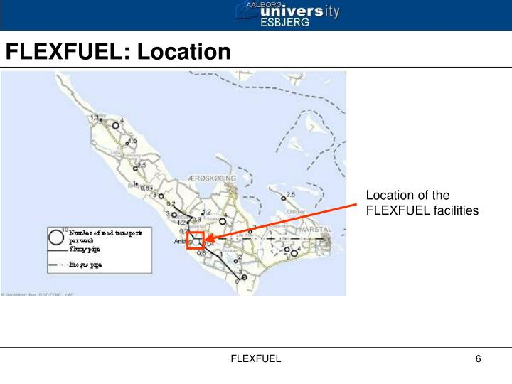 Location of the FLEXFUEL facilities