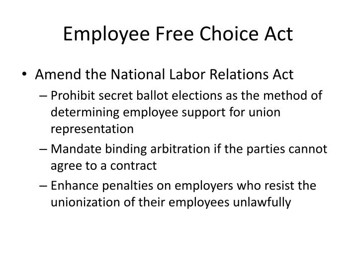 Employee free choice act1