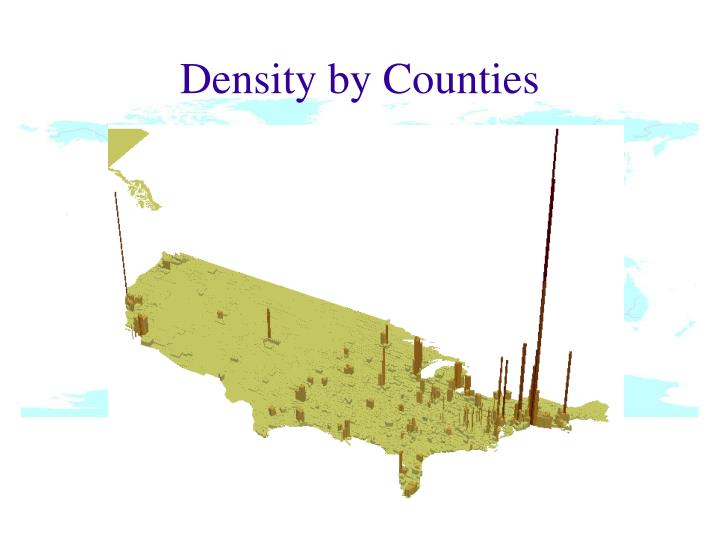 Density by Counties