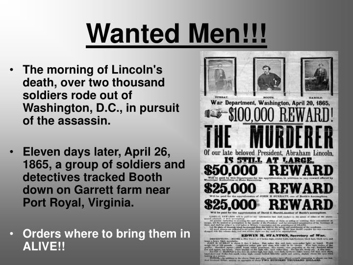 Wanted Men!!!
