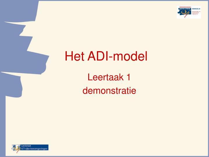 Het ADI-model