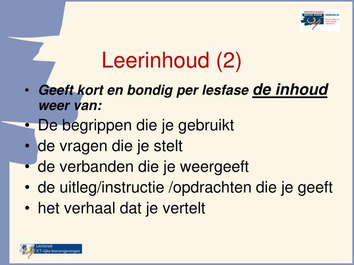 Leerinhoud (2)