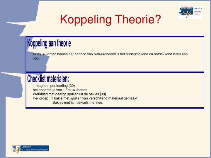 Koppeling Theorie?