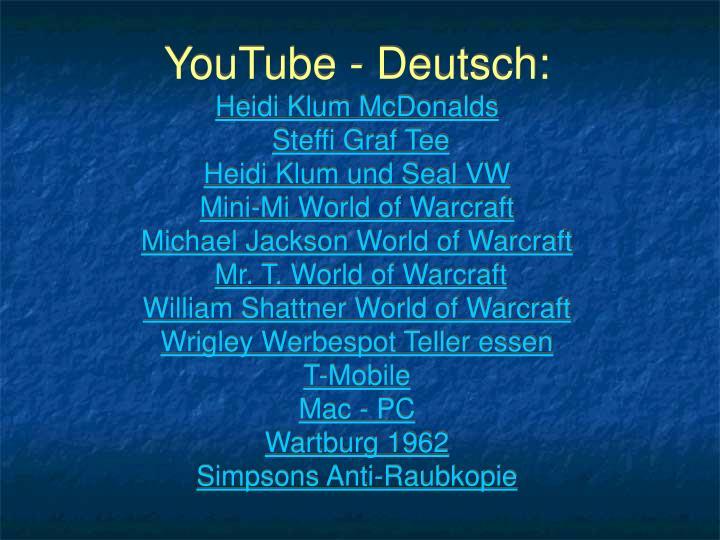 YouTube - Deutsch: