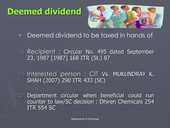 Deemed dividend