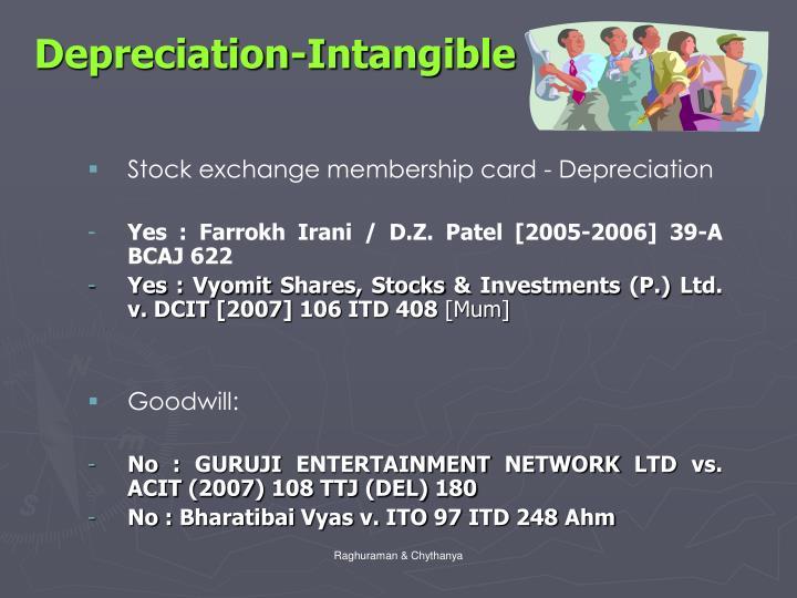 Depreciation-Intangible