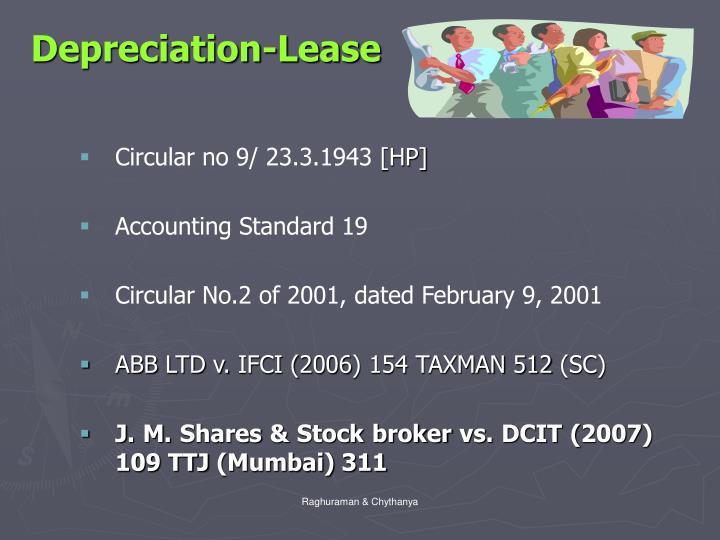 Depreciation-Lease